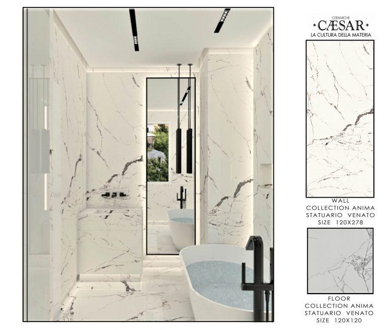 Ceramiche Caesar Bathroom-MASTER BATHROOM ONLY WHITE 2